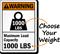 Maximum Load Capacity Custom ANSI Warning Sign