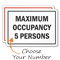 Maximum Occupancy Choose Number Of Person Sign