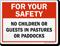 No Children In Pastures Horse Safety Sign