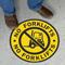 No Forklifts Floor Sign