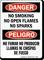 No Smoking No Open Flames Bilingual Sign