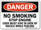 No Smoking Stop Engine Danger Sign