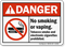No Smoking Vaping Tobacco Smoke E-Cigarettes Prohibited Sign