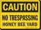 OSHA No Trespassing Honey Bee Yard Caution Sign