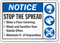 Notice Stop The Spread Wear A Face Covering Sign