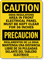 Caution Bilingual Electrical Panel Clear OSHA Sign