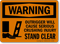 Outrigger Cause Crushing Injury Stand Clear Sign