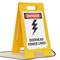 Overhead Power Lines Standing Floor Sign