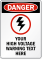 Customizable Danger, High Voltage Warning Sign