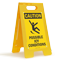 Possible Icy Conditions Caution Standing Floor Sign