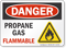Propane Gas Flammable OSHA Danger Sign