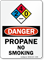 Propane No Smoking Danger Sign with NFPA Symbol