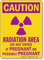 Radiation Area OSHA Caution Sign