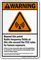 Radio Frequency Fields Warning Sign