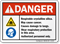 Respirable Crystalline Silica ANSI Danger Sign