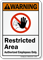 Restricted Area Authorized Employees Only Sign