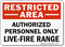 Restricted Area Live-Fire Range Sign