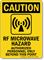 RF Microwave Hazard OSHA Caution Sign