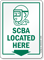 SCBA Located Here Self-Contained Breathing Apparatus Sign