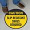 Slip Resistant Shoes Required SlipSafe Floor Sign
