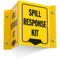 Spill Response Kit Projecting Sign