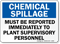 Chemical Spillage Reported Plant Supervisory Sign