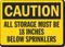 Sprinkler Clearance Caution Sign
