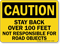 Caution Stay Back Over 100 Feet Sign