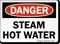 Steam Hot Water OSHA Danger Sign