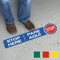 Stop Here Bilingual SlipSafe Floor Sign