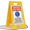 Temperature Check Station FloorBoss Sign