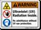 Ultraviolet Radiation Inside ANSI Warning Sign