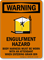 Engulfment Hazard, Body Harness Required Sign
