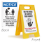 Wash Or Sanitize Your Hands Social Distancing Floor Signs