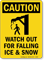 Watch Out For Falling Ice Snow Caution Sign