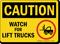 Watch for Lift Trucks OSHA Caution Sign