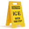 ICE Watch Your Step Caution Standing Floor Sign