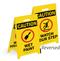 Caution Wet Paint/Watch Your Step Reversible Floor Sign