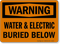 Water And Electric Buried Below Sign