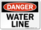 Danger Water Line Sign