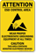 Wear Proper Electrostatic Grounding Equipment Sign