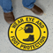 Wear Eye And Foot Protection With Graphic Sign