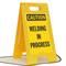 Caution Welding in Progress Fold-Ups® Floor Sign