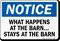 What Happens At Barn, Stays At Barn Sign